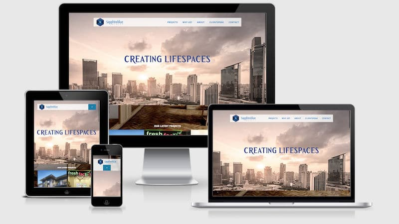 sapphireblue interior design website by mumbai code